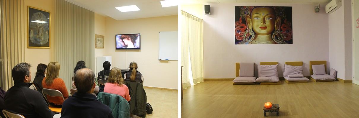 Sala de conferencias de gnosis y meditación